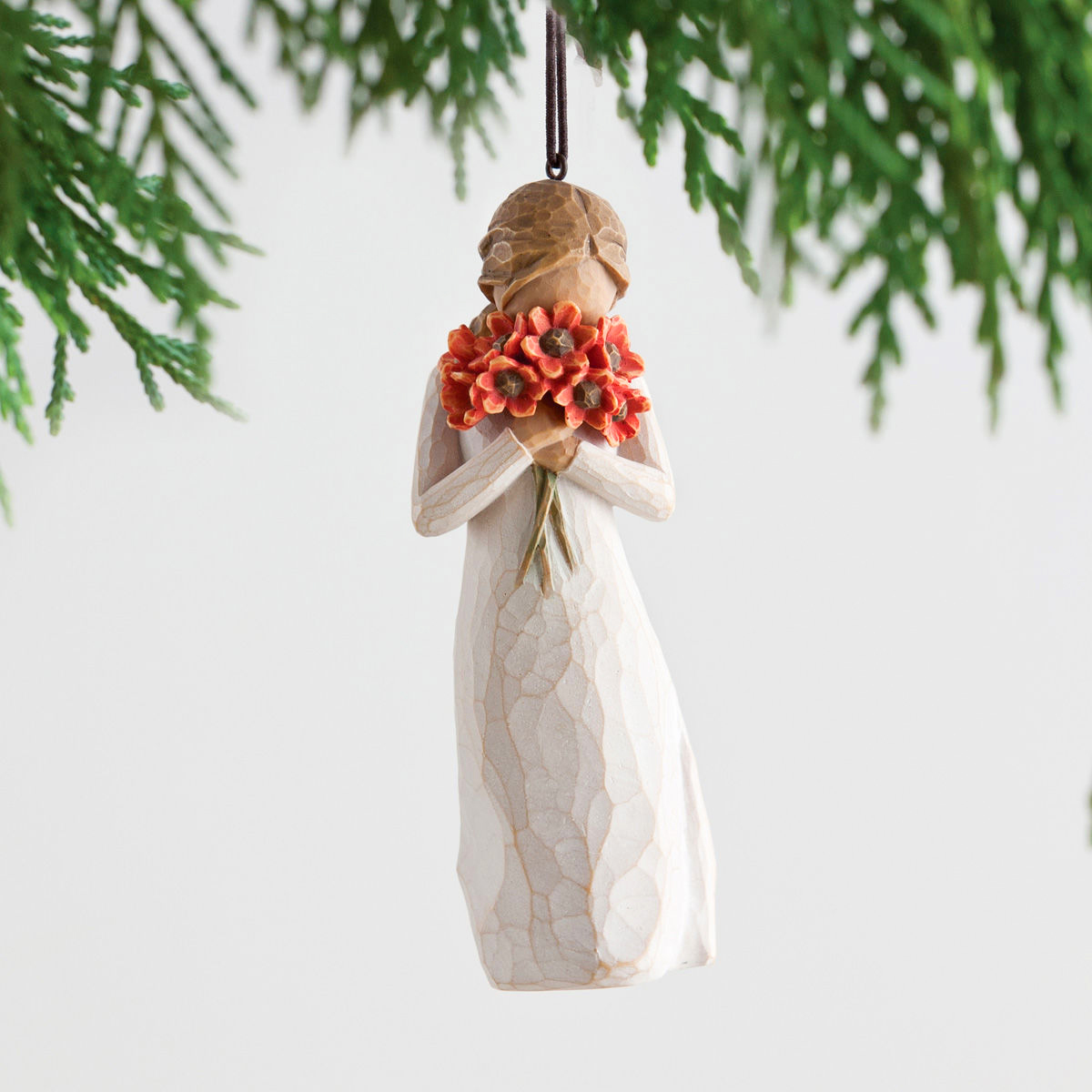 Willow Tree® Surrounded By Love Ornament: AngelTreeStore.com